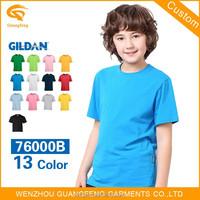 Hot Sale Gildan 100%Cotton Blank Kids Round Neck T Shirt Wholesale