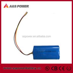 High quality 2s2p 7.4v 4000mah li-ion 18650 battery pack
