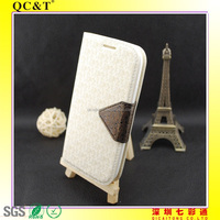 2014 high quality PU leather flip cover case compatible for Samsung i9300/S5
