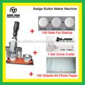 Insignia del botón de la máquina del fabricante