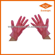 VINYL SURGICAL/ MEDICAL GLOVE, POWDER FREE, RED COLOR, OTHER COLORS ARE AVAILABLE