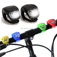 2015 Hot Sale High Quality 2led silicone bike light
