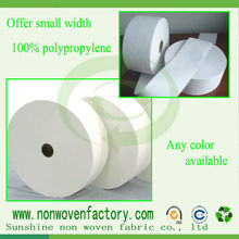 Small width roll package non woven material / non woven used cloth