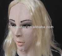Realistic Beauty Face Awesome Female Silicone/Latex Mask for Party Cosplay Masquerade Masks