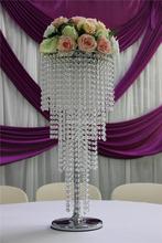 ida 3-tier acrylic crystal chandelier/cheap table top chandeliers wedding decorations/standing chandelier