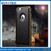 for iphone 6 genuine leather case, for iphone 6 case metal bumper leather cover, for iphone 6 protective case