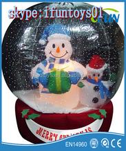 inflatable snow globes santas snowman / inflatable snowman snow globe / airblown snow globe with snowman family