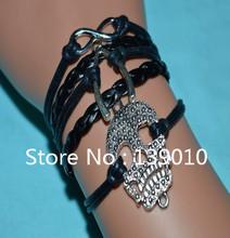 New Arrival Fashion Jewelry Punk Metal Infinity U-shaped Skeleton Bangle & Bracelet Multilayer Harmes Bracelet Upper Arm Cuff