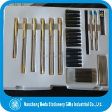 2014 Elegant and Classic Metal ball pen & roller pen and pencil 72pcs Pen sets