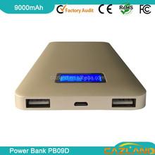 2015 Eco-friendly PB09D 9000mah Li-Polymer Rubber Protect Case Mobile power bank