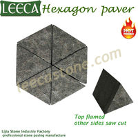 Hexagon mosaic paver triangle cubes