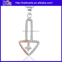 Wholesale charm pendant jewelry 925 sterling silver arrowhead pendant