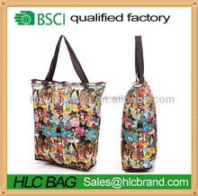 2015 New foldable nylon bag with zipper