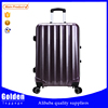 double zipper ABS trolley suitcase travel bag and luggage set factory 2015