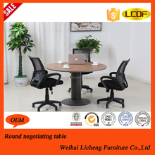 Hot sale unfolding conference table /wooden meeting desk/modern round conference desk