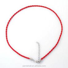 """16.5 """" красный плетеный искусственная кожа ожерелье шнуры для смелых ожерелье ювелирные изделия ( NCOR-R026-6 )"""