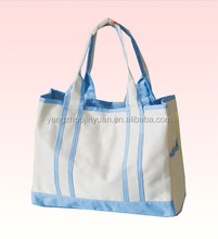 2015 new Fashion High Quality Low Price white&blue oxford Fabric shopping Bag