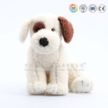 Snow white color baby dog animal toys