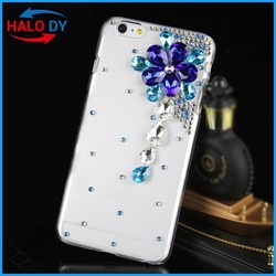 Bling crystal diamond clear hard plastic mobile phone case cover with different styles/designs for different phone models