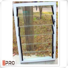 New design swing with sun shade glass louver window