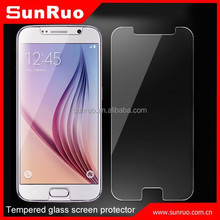 9H hardness 2.5D round edge tempered glass screen protector for galaxy s6