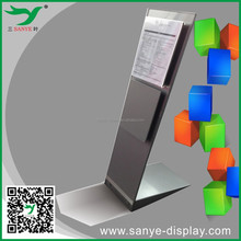 new product iron+acrylic advertising car display stand