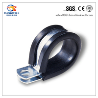 Stell Rubber Galvanized Wire Rope Cross Clamp