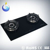 Sensitive touch two burner gas cooking stove with patent