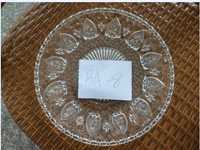 new design clear glass plate with flower design