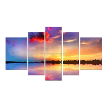 Multi-Panel Landscape Canvas Art Printing/Sea Sunrise Printed Canvas Wall Art/Sea Sunrise Printed Canvas Painting