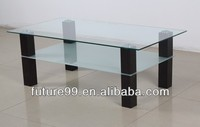 New style glass wih MDF shelf french coffee table home furniture
