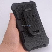 for Apple iPhone plus 6 / 6s 5.5 inch - Advanced Armor Hard Hybrid Case Cover Military Stand Holster Locking Belt Clip Case