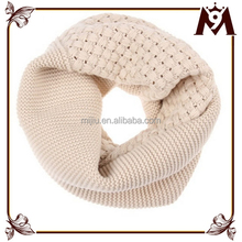 2015 joker double fashion knitted plain color young girl tube scarf