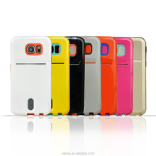 2015 New design TPU + PC Phone Case with Card Slot for Samsung s6 edge