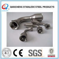 90 degree elbow JIC stainless steel female 37 seat hydraulic fitting