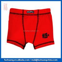 Children Red Plain Comfortable Underwear Boys Boxer 022