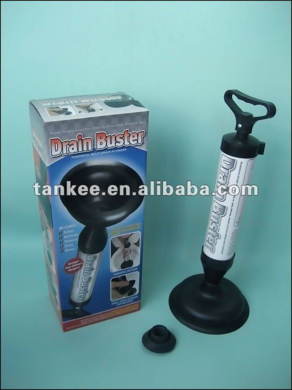 drain buster toilet plunger toilet brush cleaning brush. Black Bedroom Furniture Sets. Home Design Ideas