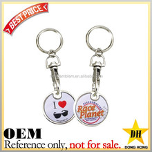 Promotional cheap custom token coins/ trolley coins/ caddy coins