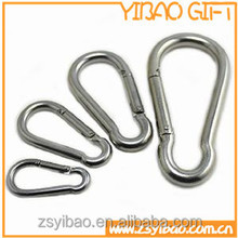plate nickle metal carabiner for Keychain accessory