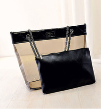 Wholesales clear pvc oem fashion bags for two-piece