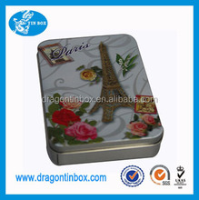 Mould free wholesale printed plain metal soap tin boxes