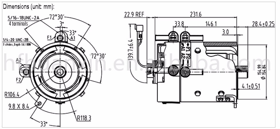 top sale electric dc motor 48 volt high speed electrical