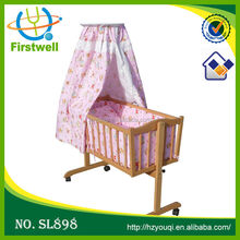Various style high quality canopy wood baby beds