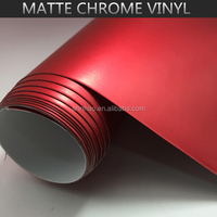 1.52*20m Vinyl Wrap for Furniture, Car, PC, Mobile Matte Chrome Vinyl Decal Sticker with Air Release