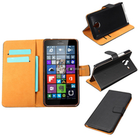 High Quality Luxury Black Flip Case PC Cover Stand Leather Wallet For Microsoft Lumia 640XL Protective Shell Skin