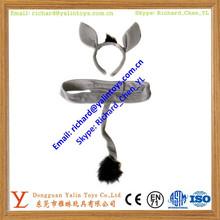 Soft Plush Donkey Headband Ears And Tail