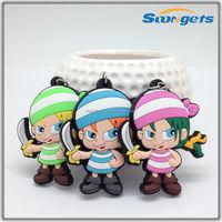 Soft 3D Custom Rubber Keyring Wholesale