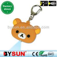 (BS-036 ) Cute little animal Teddy bear custom sound key ring