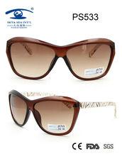 Simple design eyewear plastic sunglasses for women