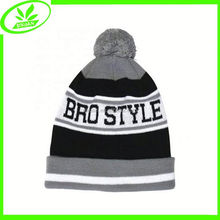 Hip hop jacquard cap warm knitted man hat